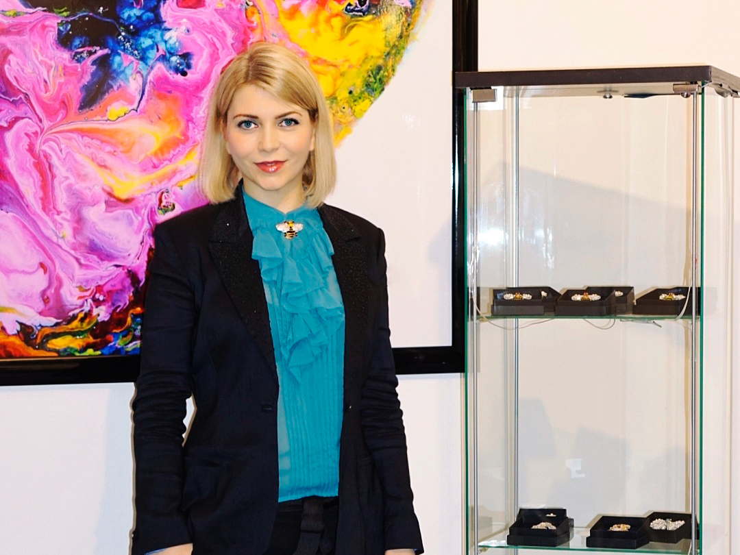 Yuliya Savytska YS First Jewelry Collections Exhibition in the Art Gallery, Quartier 206, Berlin
