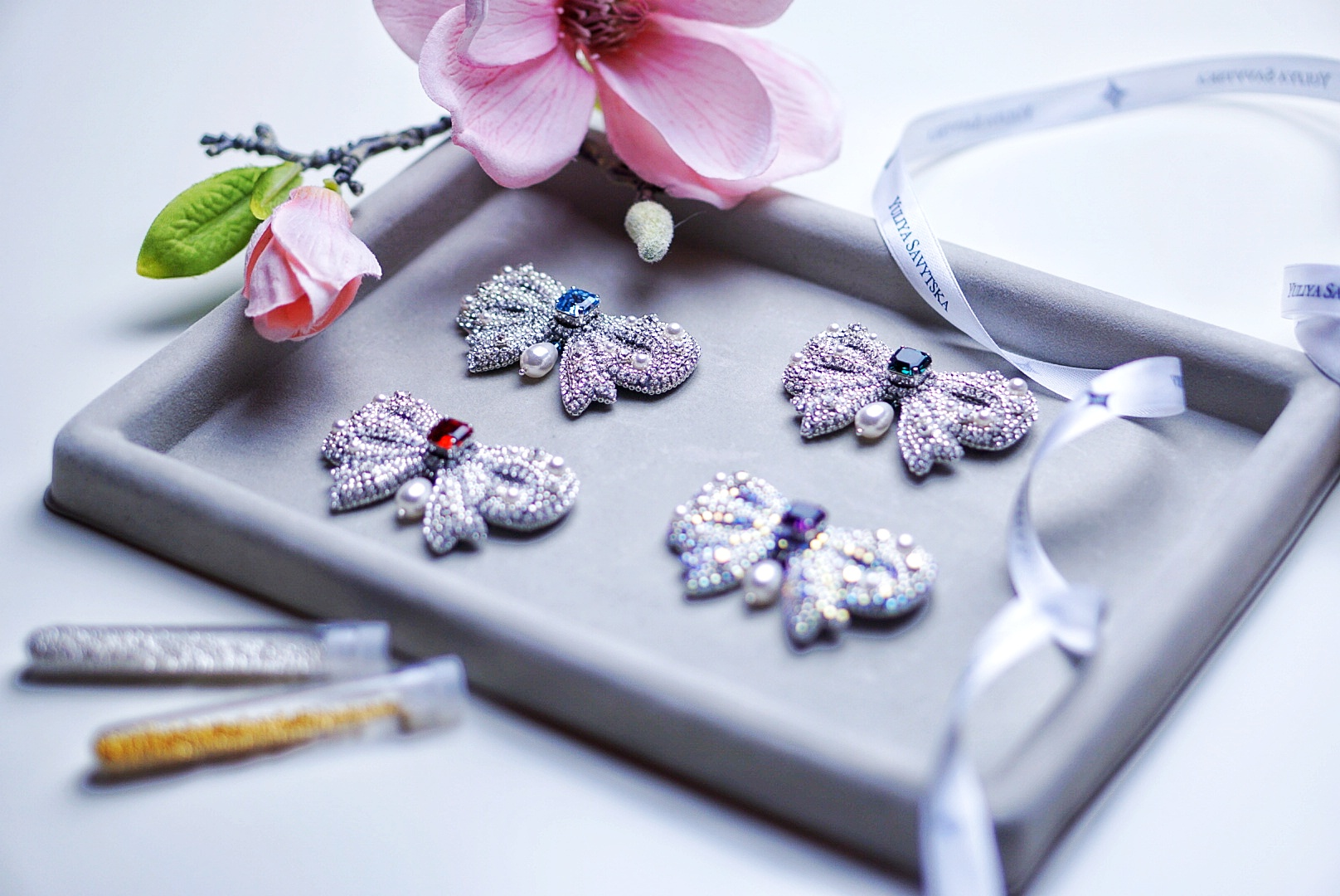 Yuliya Savytska YS Imperial Bows Brooch Collection