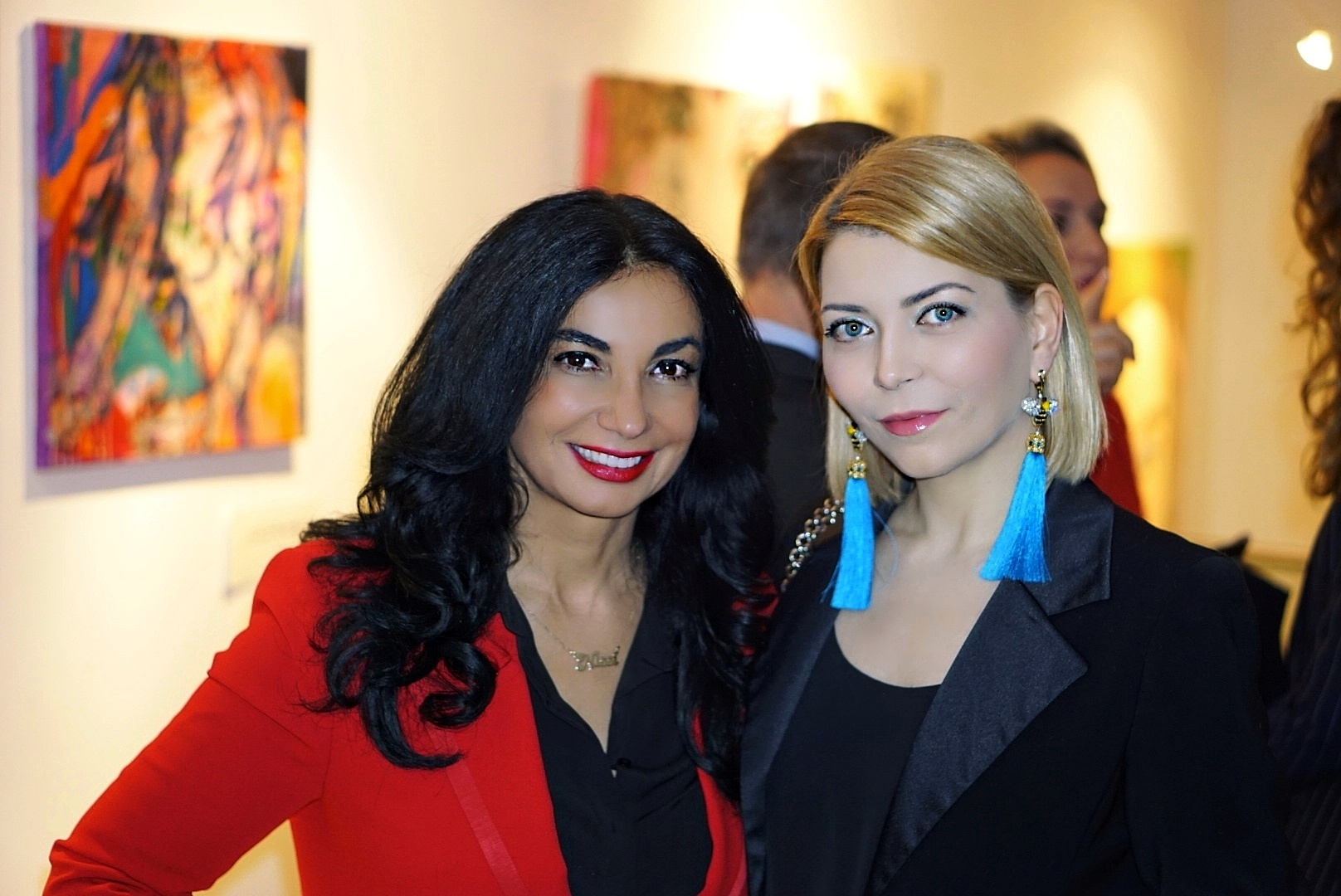 Couture Designer and Artist Yuliya Savytska at the Art Gallery Nissis Kunstkantine